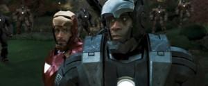 War Machine in a screenshot from Iron Man 2.